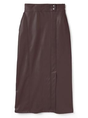 レザーストレートスカート