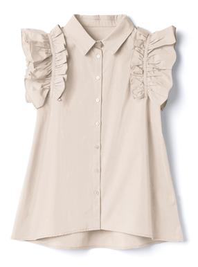 フリルノースリーブシャツ