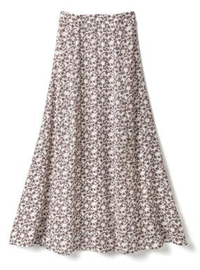 花柄マーメイドフレアスカート