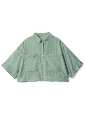 ショート丈ビッグポケットシャツ