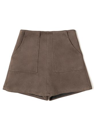 スエードスカートショートパンツ