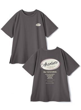 プリントサイドスリットTシャツ