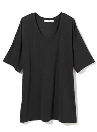 VネックドロップショルダーTシャツ