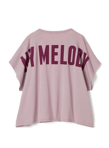 サンリオコラボ マイメロディビッグシルエットバックロゴTシャツ