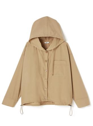 胸ポケット付きビッグシルエットフーディージャケット