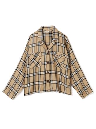 胸ポケット付きチェックシャツ