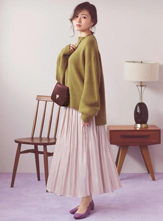 白石麻衣 フラップショルダーバッグ