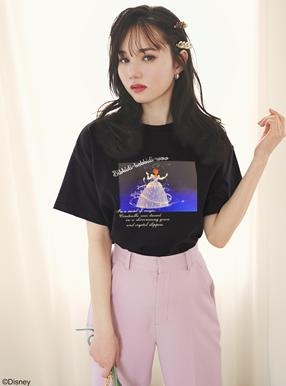 GRL ディズニープリンセスシリーズ シンデレラ/プリントTシャツ