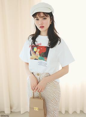GRL ディズニープリンセスシリーズ アリエル/プリントTシャツ