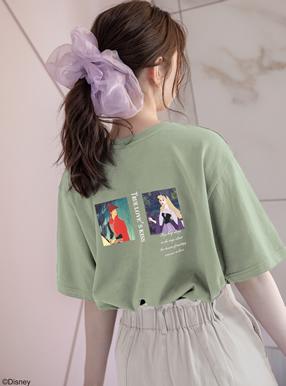 GRL/ディズニープリンセスシリーズ オーロラ姫/プリントTシャツ