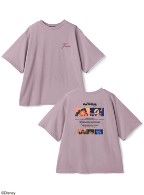 GRL/ディズニープリンセスシリーズ ジャスミン/プリントTシャツ