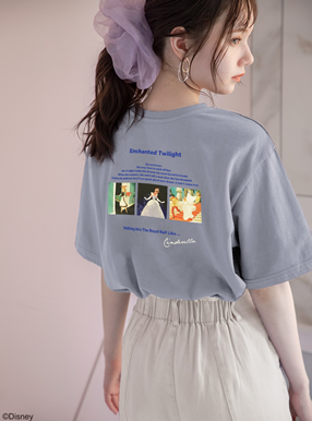 GRL/ディズニープリンセスシリーズ シンデレラ/プリントTシャツ