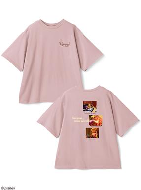GRL/ディズニープリンセスシリーズ ラプンツェル/プリントTシャツ