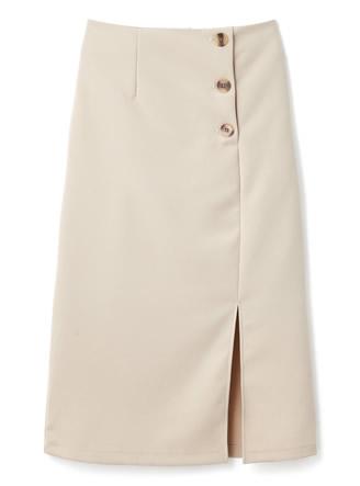 フロントボタンスカート