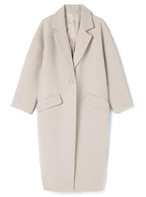 ポケット付きオーバーサイズロングコート