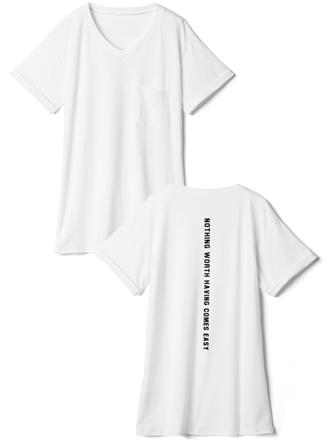 バックロゴVネックTシャツ