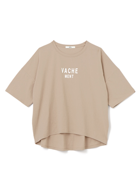 VACHE MENT ロゴTシャツ