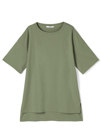 前後差ヘムビッグシルエットTシャツ