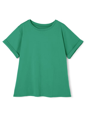 ロールアップベーシッククルーネックTシャツ
