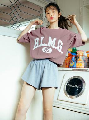 ビッグシルエットロゴプリントTシャツ