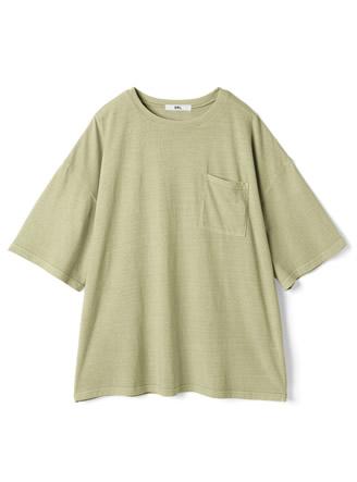 ピグメント胸ポケットTシャツ
