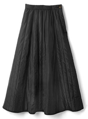 キルティングフレアロングスカート