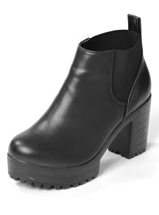 サイドゴア厚底ブーツ