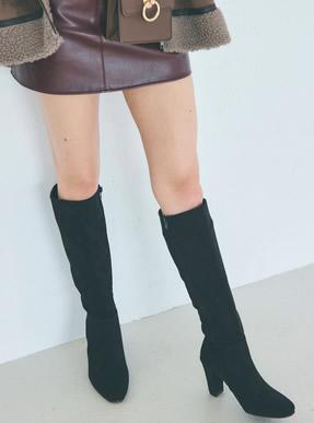 スエードロングブーツ