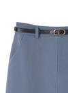 細ベルト付き台形ミニスカート