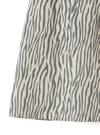 インパン裏地付きゼブラ柄ミニ丈台形スカート