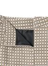 インパン裏地付き幾何学柄台形ミニスカート