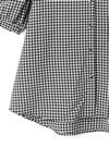 フリルビッグカラーギンガムチェックシャツ