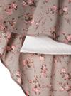 花柄リボンタイフレアスリーブワンピース