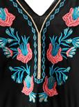 フラワー刺繍フリンジキャミソール