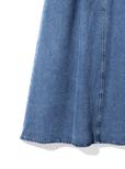 2wayアシンメトリーデニムジャンパースカート
