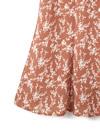 小花柄マーメイドフレアスカート