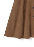 ベルト付きコーデュロイフロントボタンフレアスカート