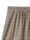フロントスリットチェックチューリップスカート