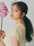 今田美桜 シアーフレンチスリーブブラウス