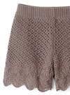 透かし編みショートパンツ