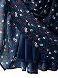 ヴィンテージ花柄フレアスリーブワンピース