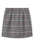ベルト付きグレンチェック台形スカート