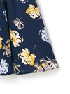 ウエストリボン花柄ワンピース