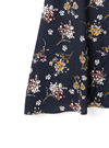 ウエストリボン付き花柄シャツワンピース