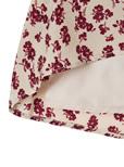 前ボタン花柄ロングスカート