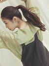 今田美桜 フェイクレザージャンパースカート