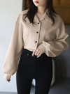 ショート丈開襟シャツジャケット