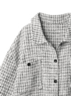 ツイードフリンジビッグシャツ