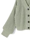 スカーフ付きローゲージニットカーディガン