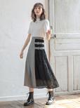 花柄レース切り替えデザインスカート
